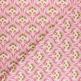Tissu coton cretonne Sybil - Turquoise x 10cm