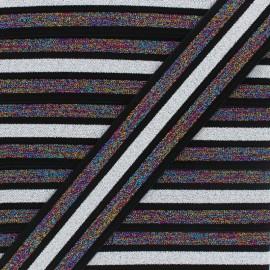 Ruban élastique lurex Trésor - Noir x 50cm