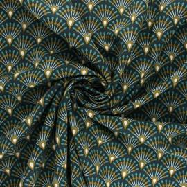 Tissu viscose Ginza - bleu nuit x 10cm