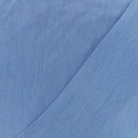 Tissu Chambray Tencel - bleu x 10cm