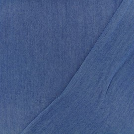 Chambray Tencel fabric - denim blue x 10 cm