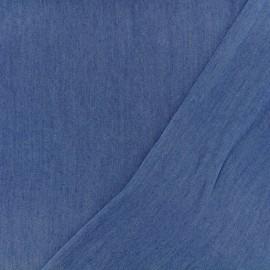 Tissu Chambray lyocell - bleu jean x 10cm