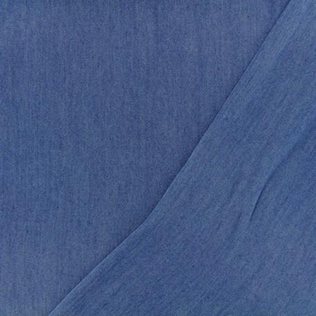 Tissu Chambray Tencel - bleu jean x 10cm