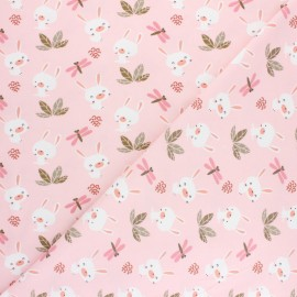 Cretonne cotton Fabric Standard 100 Oeko-tex® certified - pink Dolali x 10cm