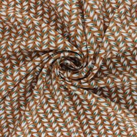 Tissu viscose Nadda - muscade x 10cm