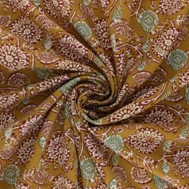 Domotex Viscose Fabric - Mustard Jivana x 10cm