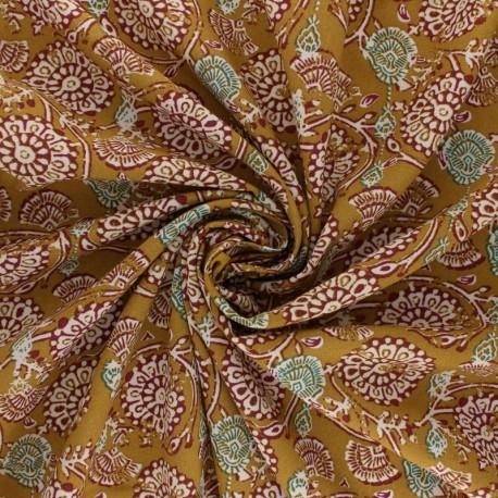 Tissu viscose Jivana - moutarde x 10cm
