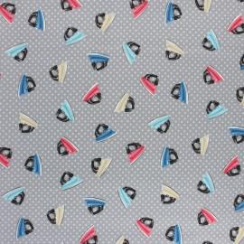 Tissu coton Makower UK Stitch in Time Fer - Gris x 10cm