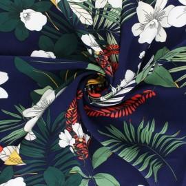 Striped Viscose fabric - Black Tiana x 10cm