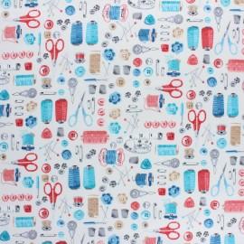 Makower UK Fabric Stitch in Time - Cream Notions x 10cm