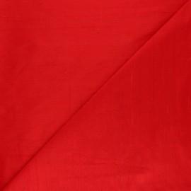 Tissu soie sauvage - rouge tango x 10cm