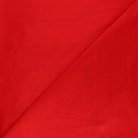 Wild Silk Fabric - Tango Red x 10cm