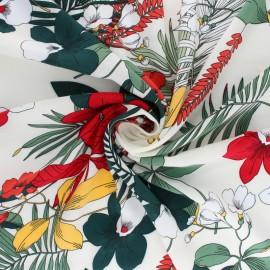 Tissu viscose Vahiné - rouge x 10cm