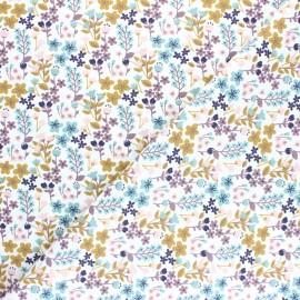 Tissu coton cretonne Milly- blanc x 10cm