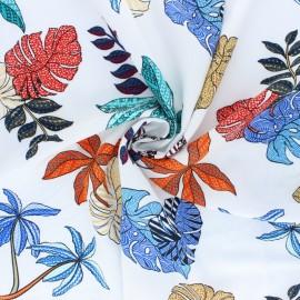 Patterned Viscose fabric - raw Vahiné x 10cm