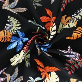 Patterned Viscose fabric - white Moorea x 10cm