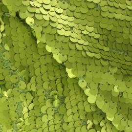 Tissu paillettes Sirène anis