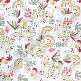 Cretonne cotton Fabric - Rust red Prio x 10cm
