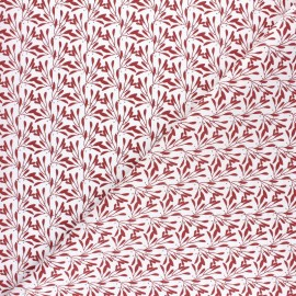 Cretonne cotton Fabric - Red Slichen x 10cm