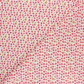 Cretonne cotton Fabric - Blue Zanteme x 10cm