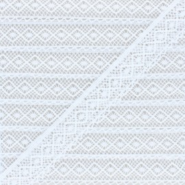 25 mm lace ribbon - White Natalia x 1m