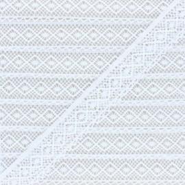 Ruban dentelle aux fuseaux Natalia 25mm - Blanc x 1m
