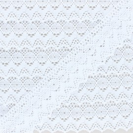 38 mm lace ribbon - White Augustine x 1m