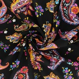 Patterned Viscose fabric - red Gujarat x 10cm