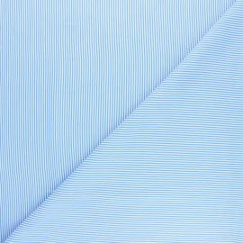 Striped Viscose fabric - navy blue Amalfi x 10cm