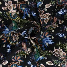 Patterned Lurex Viscose fabric - black Munduk x 10cm