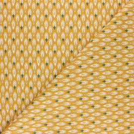 Cretonne cotton Fabric - Mustard yellow Pilam x 10cm