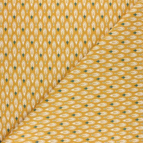 Cretonne cotton Fabric - Mustard yellow Pilam x 10cm