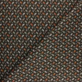 Tissu coton cretonne Fiduo - marron x 10cm