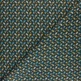 Cretonne cotton fabric - dark green Fiduo x 10cm