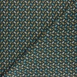 Tissu coton cretonne Fiduo - vert foncé x 10cm