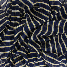 Lurex Muslin fabric - blue Trépidante x 50cm