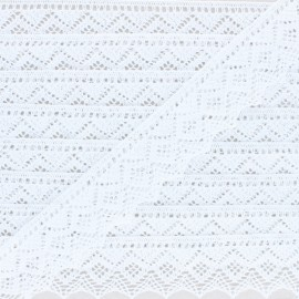 43 mm organic cotton lace ribbon - White Bella x 1m
