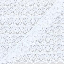 Ruban dentelle coton bio Lara 25 mm - Blanc x 1m