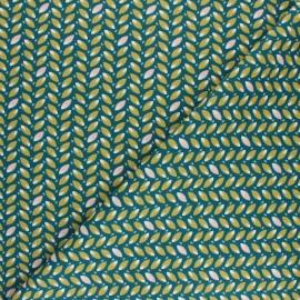 Tissu coton cretonne Ehua - Vert x 10cm