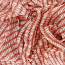 ♥ Coupon 300 cm X 150 cm ♥ Tissu Mousseline lurex Isabella - corail