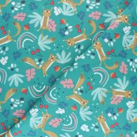 Tissu coton cretonne Prio - Rouille x 10cm