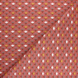 Tissu coton cretonne Muji - Marsala x 10cm