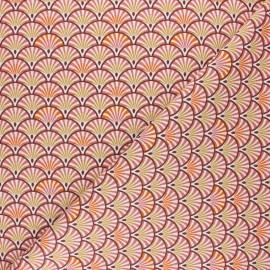 Tissu coton cretonne Yona - rose thé x 10cm