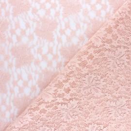 Tissu Dentelle Nina - rose x 10cm
