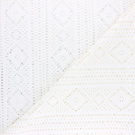 Cotton Lace Fabric - Raw Nina x 10cm