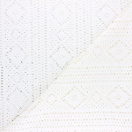 Cotton Lace Fabric - Raw Nina x 10cm
