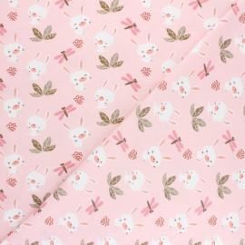 Jersey cotton fabric - Pink Dolali x 10cm
