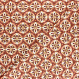 Cretonne cotton Fabric - Brown Livy x 10cm