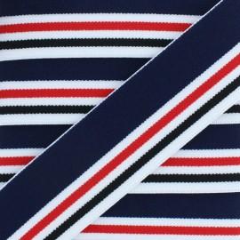 40 mm Elastic Ribbon - Navy blue Seashore x 1m