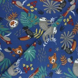 Tissu jersey Papaya - Bleu x 10cm